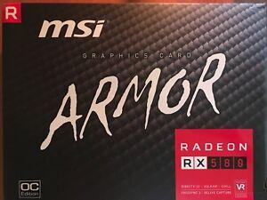 Details about MSI Gaming Radeon RX 580 256-bit 4GB GDRR5 DirectX 12 VR  Ready CFX Graphics Card