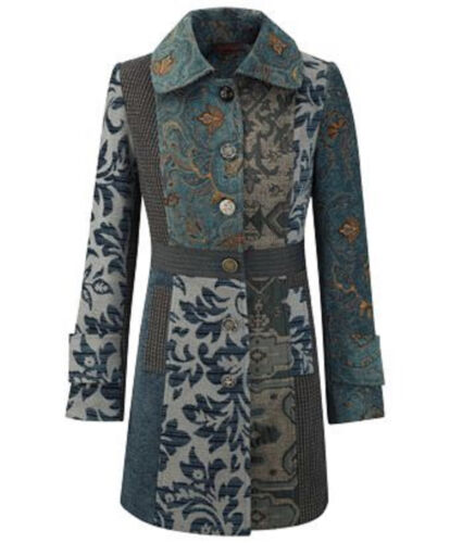 BNWT Joe Browns Tapestry From Russia With Love Teal Coat UK Size 8