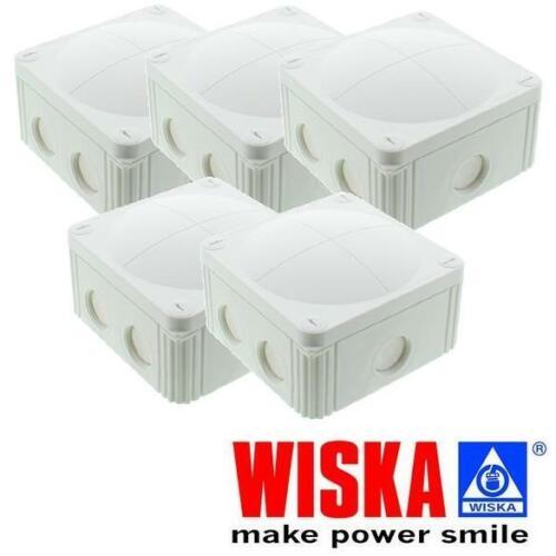 5 X COMBI 308//5 Wiska Box White IP66 Weatherproof External Junction Box Outdoor