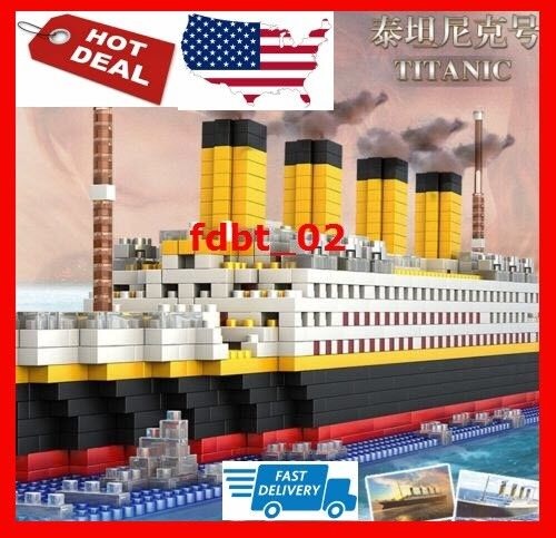 New 1860pcs Titanic Cruise Ship Building Bricks Blocks Sets 3D Lego Boat Diamo