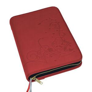Bücherzubehör Großdruck Gotteslob Hülle Gotteslobhülle Kunst Leder Rot Gebetbuch Buchhülle Buchhülle