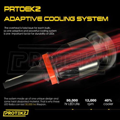 Protekz LED Headlight Kit Bulb H11 6000K Low Beam 600W for 2003-2013 Volvo C70