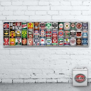 1700-x-400mmm-OIL-CAN-COLLECTION-GAS-STATION-DISPLAY-MURAL-BANNER-SIGN-GARAGE