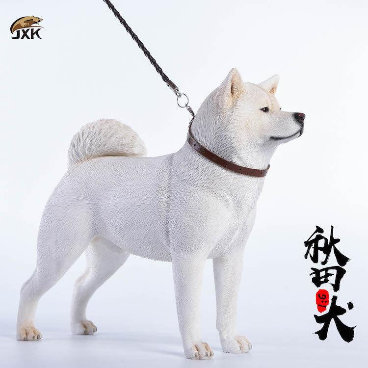 1   6 jxk japanisch akita hund jxk007b simulation harz tiermodell abbildung spielzeug als geschenk