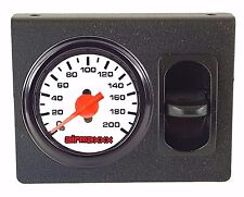 Air Ride Single Needle Air Gauge White 200psi, Panel & 1 Paddle Switch Control