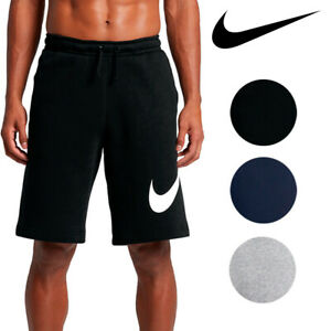 Nike-Men-039-s-Athletic-Wear-Graphic-Swoosh-Standard-Fit-Club-Fleece-Shorts