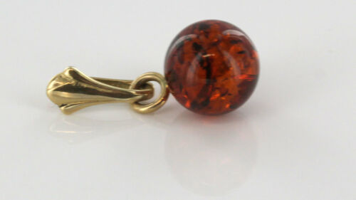 GP0117S  RRP£60!!! Italian Made Unique German Baltic Amber Pendant in 9ct Gold