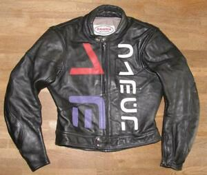 Herren- Motorrad - Lederjacke / Biker- Jacke schwarz Marke  D A M E N  ca. 50/52
