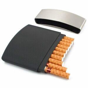 Portable-Cigarette-Case-Ultra-Thin-Humidor-Men-Gift-Metal-Box-Holds-10-Cigarette