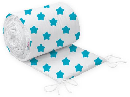 Bébé Rembourré Pare-Chocs pour Lit D/'Enfant 120x60 et 140x70 Droit 100/% Cotton