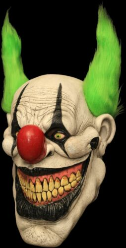 Zippo Killer Clown Full Head /& Neck Latex Halloween Mask by Ghoulish Productions