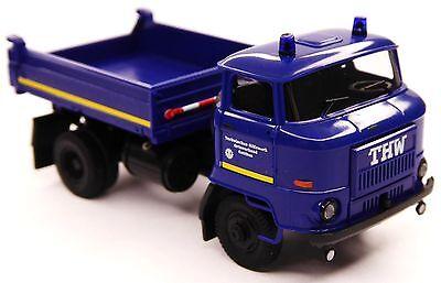 Baufahrzeuge Hart Arbeitend H0 Busch Ifa L 60 3sk Dreiseitenkipper Thw Ortsverband Cottbus Blaulicht # 95506