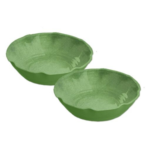 Epicurean Amazon Green 19cm Melamine Pasta /& Cereal /& Pudding Bowls Set of 2