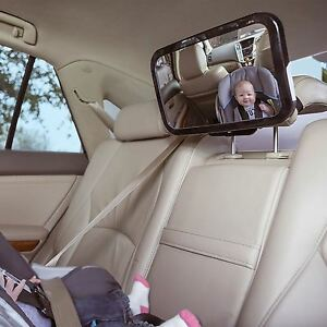 large wide easy view rear baby child back seat car safety mirror headrest mount ebay. Black Bedroom Furniture Sets. Home Design Ideas