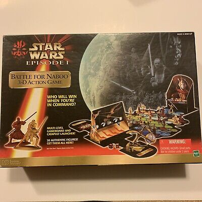 Vintage Star Wars Board Game Battle For Naboo 1999 Hasbro ...