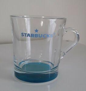 Starbucks-034-Barista-034-Coffee-Mug-Cup-Beautiful-Clear-BLUE-GLASS-15-5-oz-U-S-A