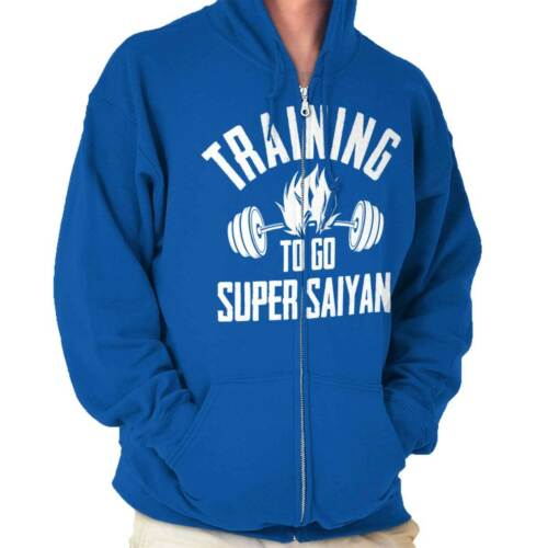 Training Super Funny Gym Workout Gift Goku Zip Up Hooded Sweatshirts For Men
