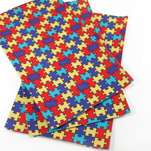20-34cm-Autism-Series-Printed-Faux-Leather-Upholstery-Fabric-For-DIY-Crafts-Bows