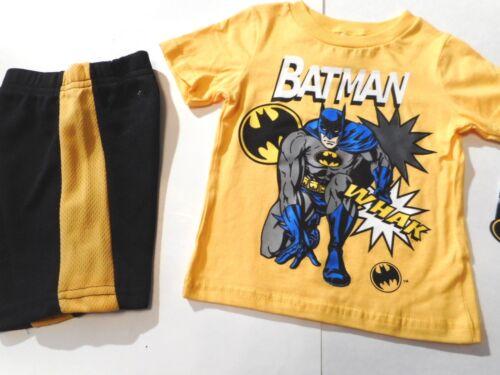Batman Boys outfits Toddler Boys shirts Boys Shorts Clothes 2 Pc Set 18-24 mos