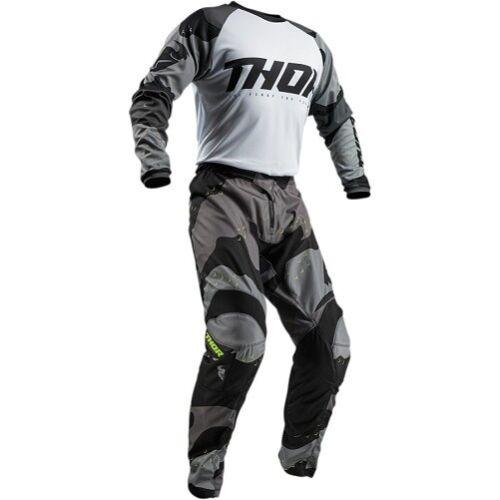 2019 Thor Sector Shear /& Camo Pant /& Jersey Riding Gear Combo Set Atv Mx Offroad