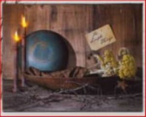 Primitive Lighted Canvas Print Simple Things 72133