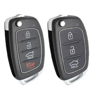 2 Case Shell fits 2013-2019 Hyundai Santa Fe Key Fob Keyless Entry Remote