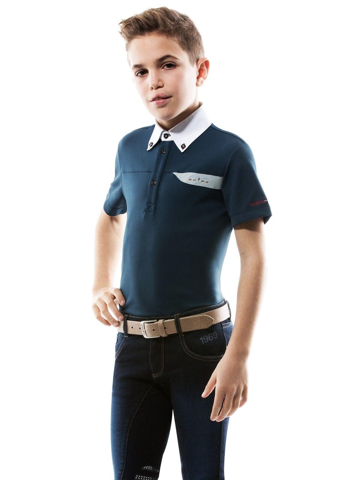 Animo Kinder Turniershirt Boy's Polo Polo Polo Atommy Fb. Safari NEU 089358