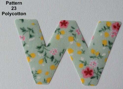 """Multi Listing *NEW* 9 Designs! IRON ON DITZY Fabric LETTERS Size 1.5/"""""""