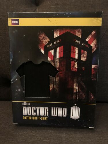 Dr Doctor Who Ripple Junction Large Black T-Shirt Tardis Union British Tee Shirt