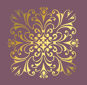 LARGE-WALL-DAMASK-STENCIL-PATTERN-FAUX-MURAL-1020