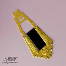 CORDIER MANOUCHE style SELMER GIPSY JAZZ TAILPIECE GOLD BLACK Plastic Plate
