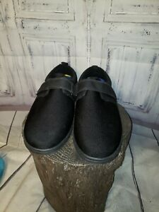 dr comfort men shoes carter 12xw black casual velcro