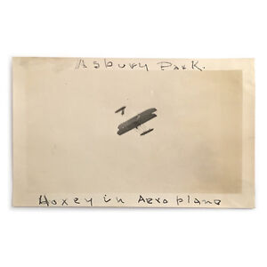 Original-Asbury-Park-Airshow-Photograph-Hoxsey-Flying-Wright-Plane-C-1910
