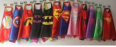 Superhero Cape child Girl Boy costume play time Super Hero 70x70 cm