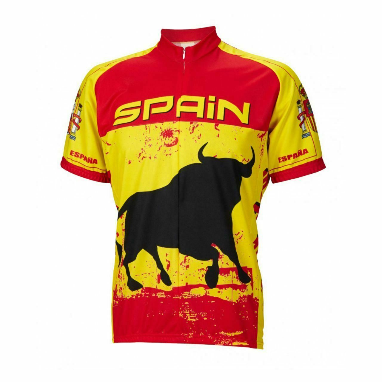Spain Bull Power Short sleeve Half zip uomo cycling jersey