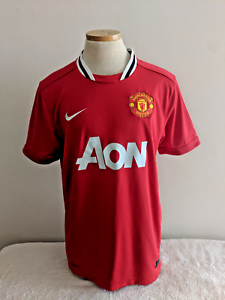 49979b01eb6 Manchester United Soccer Jersey Nike Large MAN U Dri-Fit Red Devils ...