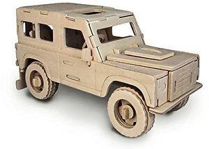 Land Rover: Woodcraft QUAY construction bois JEEP 3D Kit modélisme P323 7 ans