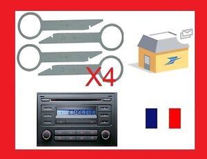 4-Cles-clef-extraction-autoradio-demontage-VW-autoradio-POLO-de-2006-et-autres