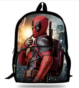 Image Is Loading Backpack For School Boys Bookbag Cool Deadpool Boy
