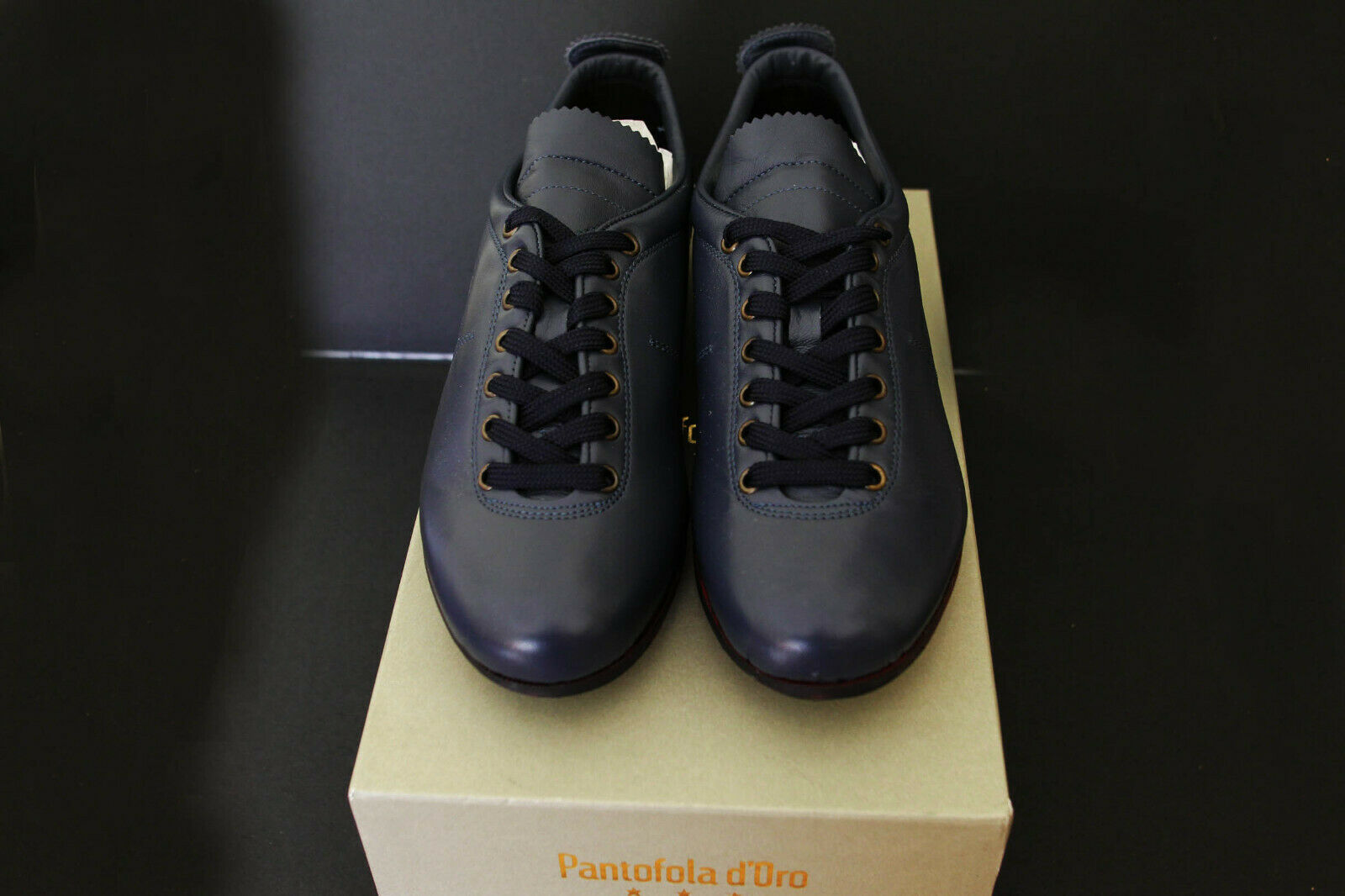Pantofola d'gold Sneakers Superstar  bluee Leather 50% OFF   Retail 320,00 Euro