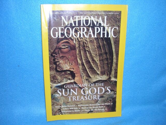 National Geographic November 2003: Guardian of the Sun God's Treasure