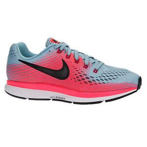 Nike Women's Air Zoom Pegasus 34 Running Shoe (8.5 W US, Mica BlueWhiteRacer PinkSport Fuchsia)