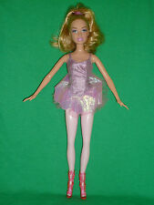 Pretty Blonde Barbie ~ Ballerina with Pink Legs and Tutu ~ GUC!