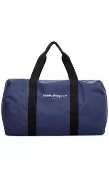 a97a689feb55 Salvatore Ferragamo Men Duffle Bag Weekender Gym Travel Overnight Handbag