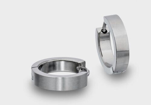 Titan Klapp Creolen Ohringe 13mm Durchmesser NEU