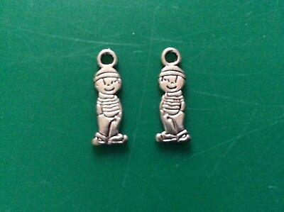 Gold tone cute girl  charms app 18mmx 6mm x 20 pack