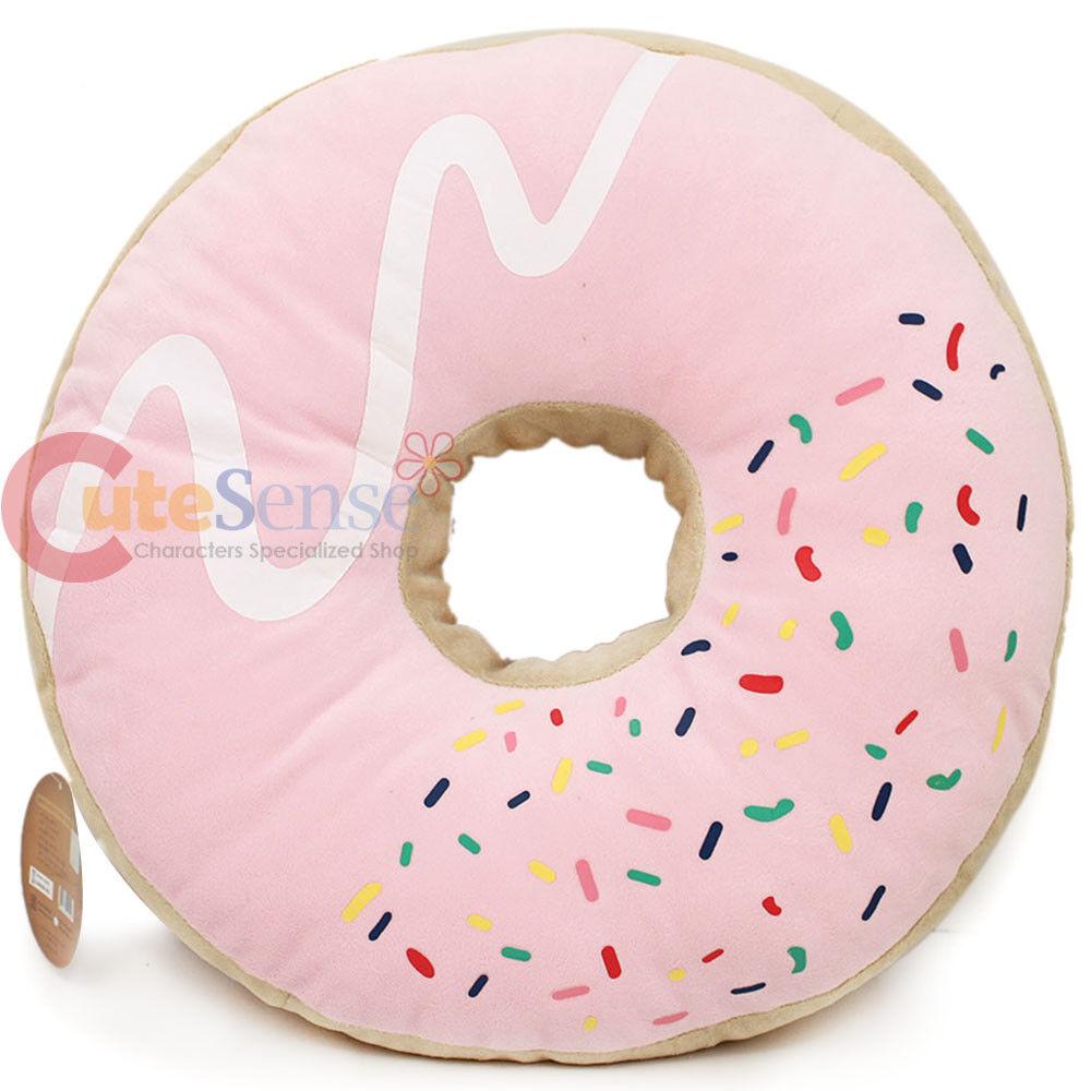 Pink Sugar Doughnut Cushion Cushion Cushion Donut Cushion Food Pillow 16  Cotton Food 5f03fe