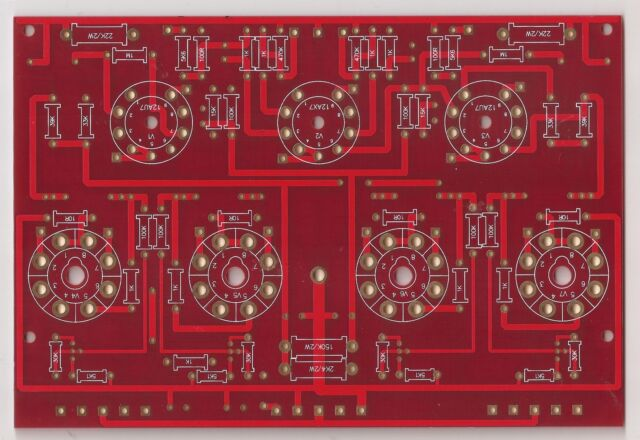 EL34 PP power stereo amplifier PCB 1 piece !