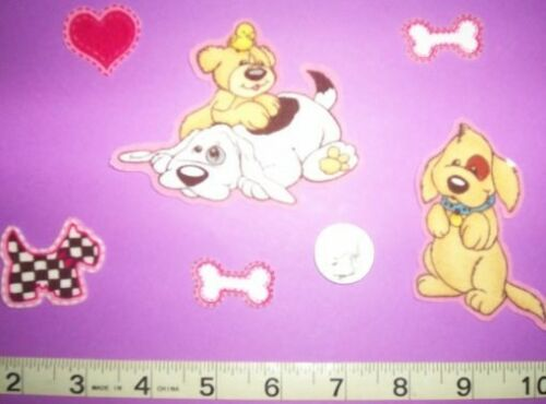 Cool CUTE POUND PUPPY DOGS Iron-on Fabric Appliques ~ Iron ons New