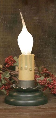 "Farmhouse//Cottage//Primitive 2/"" Charming Light w// Green Base /& Silicone Bulb"